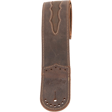 Martin Wingtip Dark Brown Leather Guitar Strap - 18A0079 - View 2