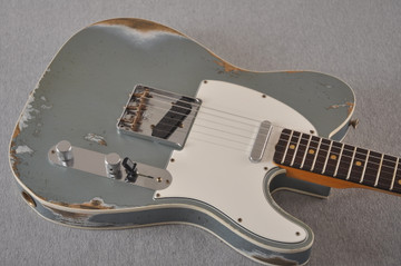 Fender 1964 Telecaster Custom Shop Heavy Relic Blue Ice Metallic - View 7