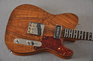 Fender Custom Shop Telecaster Artisan Koa P90 Chambered Body - View 6
