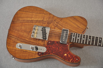 Fender Custom Shop Telecaster Artisan Koa P90 Chambered Body - View 12