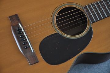 1955 Martin 0-18 Vintage Acoustic Guitar #143936 - Pickguard