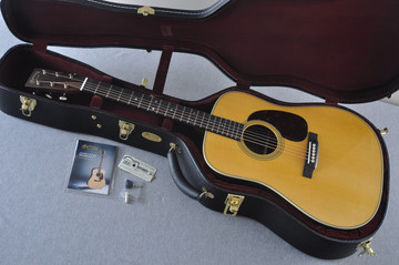Martin Custom Shop D-28 (2017) Ziricote Rosewood Dreadnought Acoustic Guitar #2142391 - Case