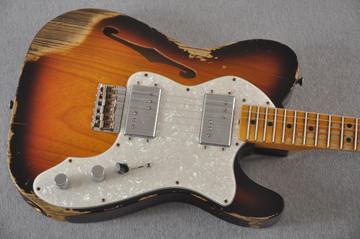 Fender Telecaster Thinline '72 Heavy Relic Sunburst Ltd Edition - View 10