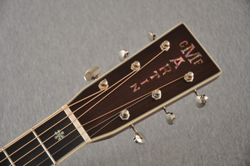 Martin Custom Style 42 OM Adirondack Ambertone #2260979 - Headstock