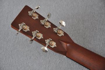 Martin Custom Madagascar Dreadnought Style 28 Acoustic #2142393 - Back Headstock