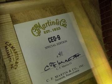 Martin CEO-9 Curly Mango 00 14 Fret Slope Shoulder #2267911 - Label