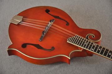 Eastman MD515/V-AMB Mandolin F Style Solid Spruce Top Ebony Board - View 5
