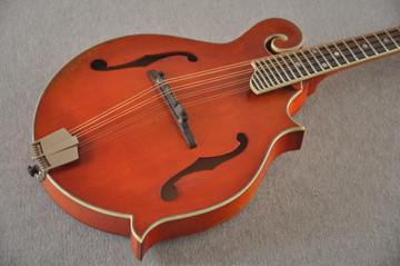 Eastman MD515/V-AMB Mandolin F Style Solid Spruce Top Ebony Board