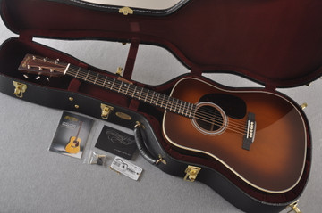 Martin 28 Style Custom Dreadnought Guitar Ambertone Adi #2260967 - Case