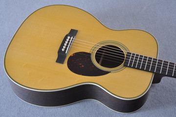 Martin Custom Shop OM-28 Guatemalan Rosewood Acoustic Guitar #2142388 - Top Angle