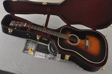 Martin 28 Style Custom Dreadnought Adirondack Sunburst #2278814 - Case