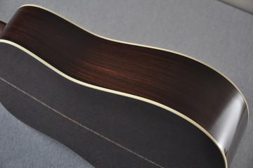 Martin Custom Shop D-28 Dark Indian Rosewood Acoustic Guitar #2210058 - Side