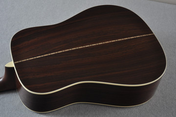 Martin Custom Shop D-28 Dark Indian Rosewood Acoustic Guitar #2210060 - Back Angle