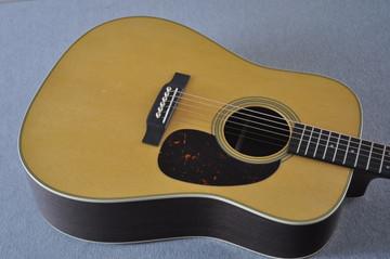 Martin Custom Shop D-28 Dark Indian Rosewood Acoustic Guitar #2210060 - Top Angle