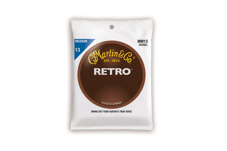Martin Guitar Strings MM13 - Monel Retro - Medium Gauge
