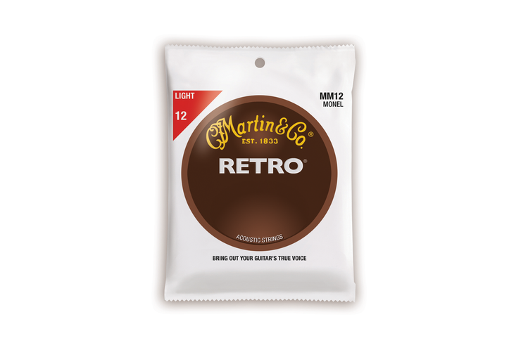 Martin Guitar Strings MM12 - Monel Retro - Light Gauge
