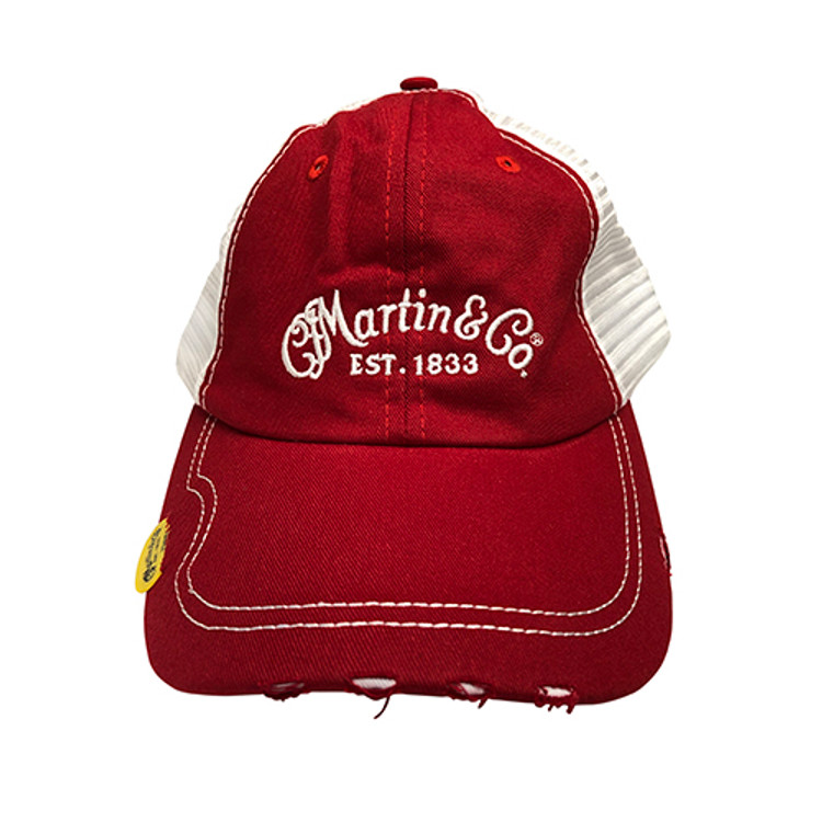 Martin Guitar Hat - Red Baseball Cap - Holds Pick - 18NH0048