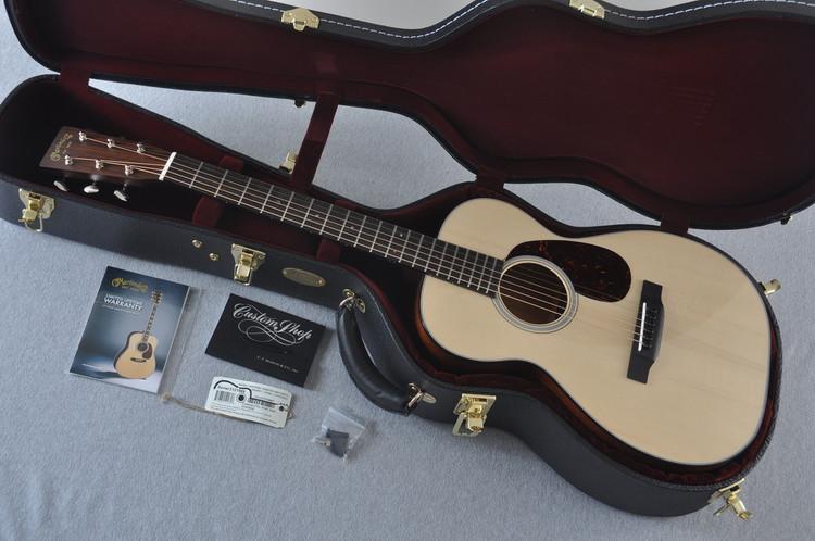 Martin Custom Shop 0-18 Adirondack Clear Gloss Acoustic Guitar #2121988 - Case