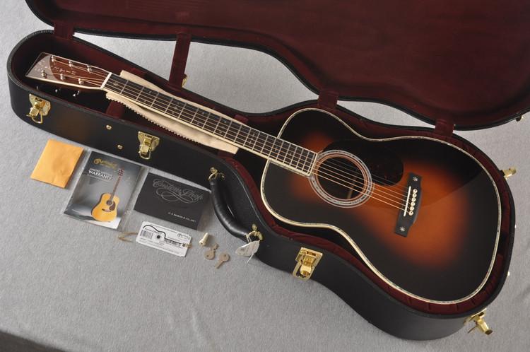 Martin Custom Style 42 OM Adirondack Sunburst #2260977 - Case