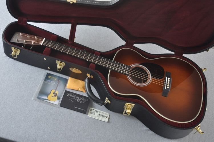Martin Custom OM Style 28 Adirondack Ambertone Guitar #2210062 - Case