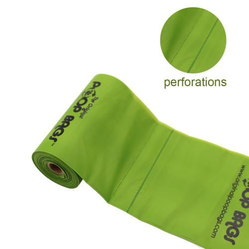 Easy perforations make these poop bags ideal for leash attachment dispensers.