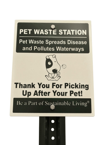 Poop bags Sign  No company name or logo on sign to make accessible to all properties