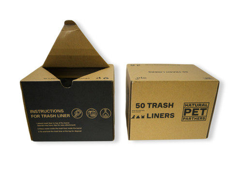 Natural Pet Partners box of trash can liners