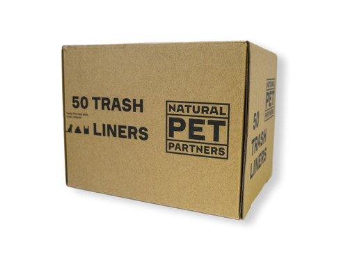 Box of trash can liners for animal waste