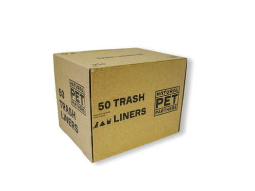 Side of trash can liner box for animal waste