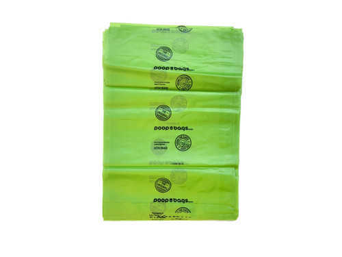 The Original Poop Bags® are still made in the USA, and primarily made with plant matter. They are ASTMD6400 certified, which means they are ideal for a commercial composting facility.