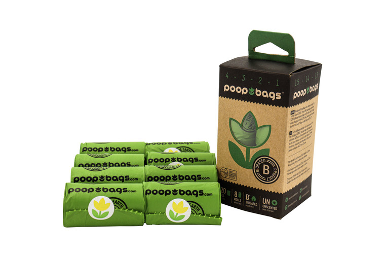 The Original Poop Bags® Countdown Rolls® are individually numbered  from 15 down to 1 so you'll never run out poop bags again!  This patent pending technology is available only from The Original Poop Bags®!