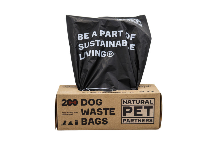 Natural Pet Partners case and animal waste bag roll
