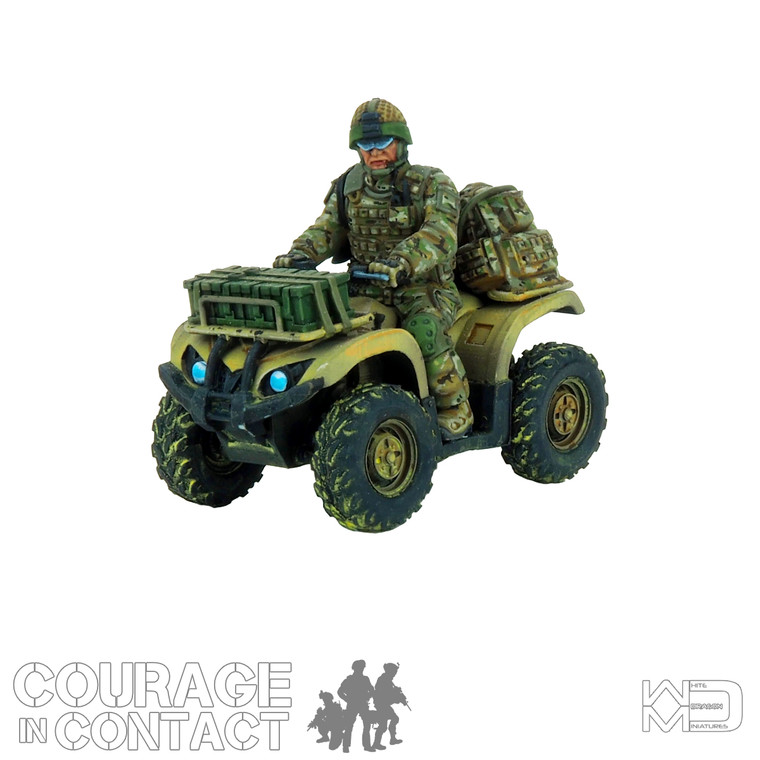 British Army -  Quadbike with Rider