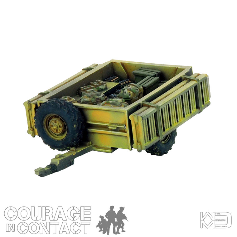 British Army -  Quadbike Trailer Full