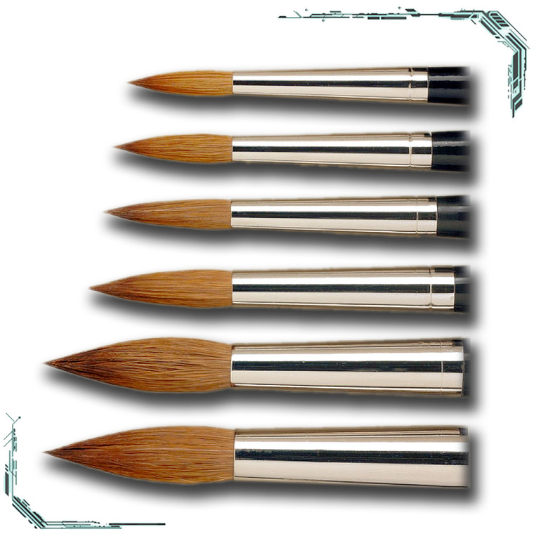 Fine Detail Pure Kolinsky Pointed Brush