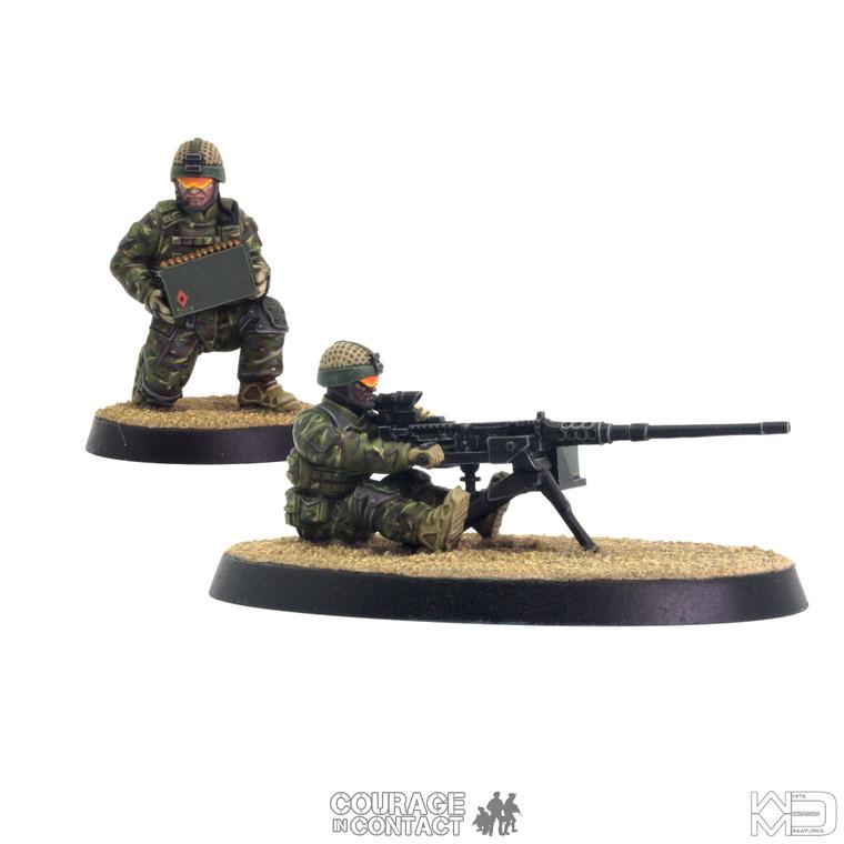 British Army -  Heavy Machine Gun Team