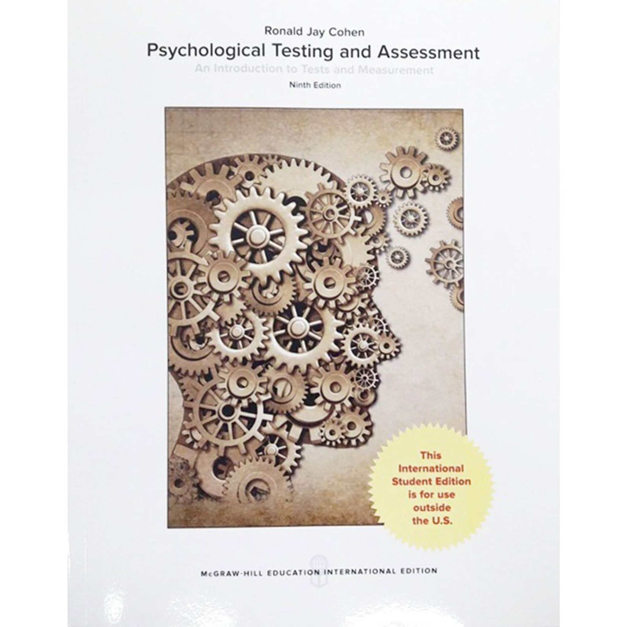 Psychological Testing and Assessment (9th Edition) Ronald Jay Cohen and  Mark E  Swerdlik IE