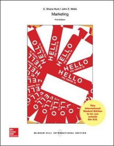 Marketing (1st Edition) Hunt IE