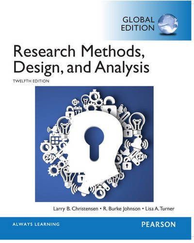 Research Methods, Design, and Analysis (12th Edition) Christensen IE