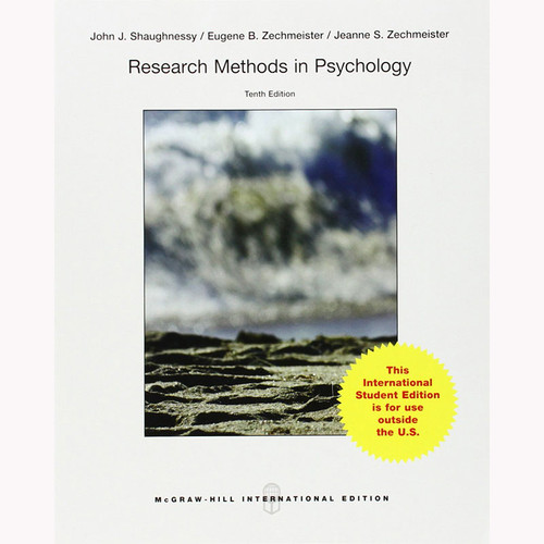 Research Methods in Psychology (10th Edition) Shaughnessy