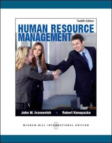 Human Resource Management (12th Edition) Ivancevich