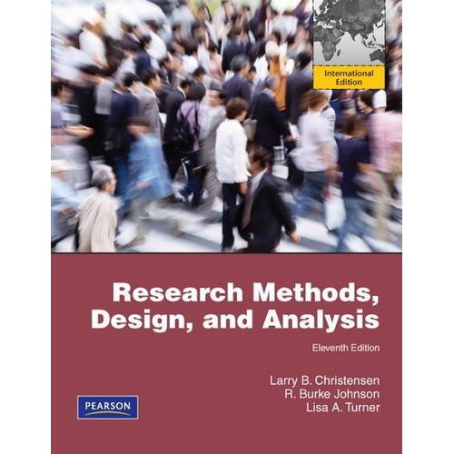 Research Methods, Design, and Analysis (11th Edition) Johnson IE