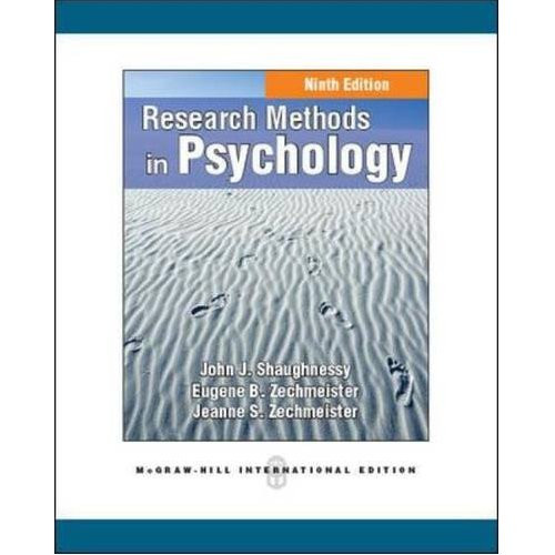 Research Methods in Psychology (9th Edition) Shaughnessy IE