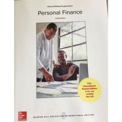 Personal Finance (12th Edition) Kapoor   9781260083378
