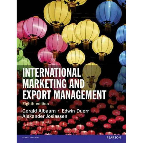 International Marketing and Export Management (8th Edition) Albaum   9781292016924