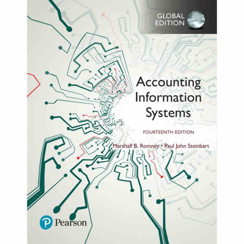 Accounting Information Systems (14th Edition) Romney | 9781292220086