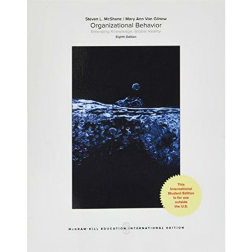 Organizational Behavior (8th Edition) McShane | 9781259921704