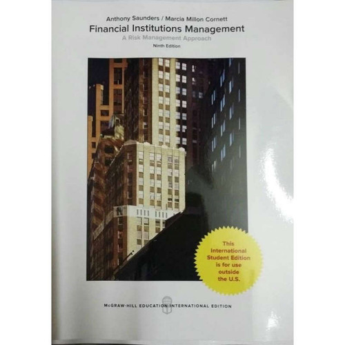 Financial Institutions Management: A Risk Management Approach (9th Edition) Saunders | 9781259922046