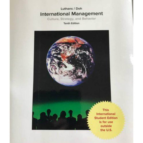 International Management: Culture, Strategy, and Behavior (10th Edition) Luthans | 9781259921926