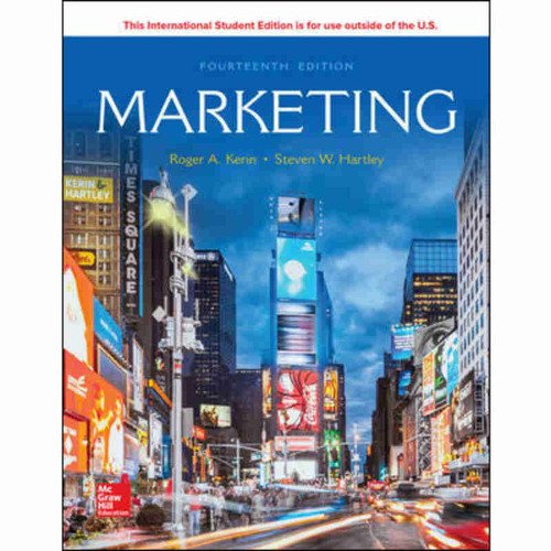 Marketing (14th Edition) Roger A. Kerin and Steven W. Hartley | 9781260092110